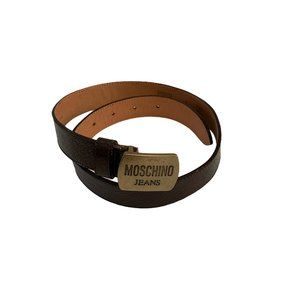 Moschino Jeans Leather Belt